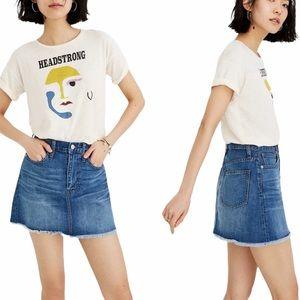 Madewell Rigid A-Line Denim Skirt